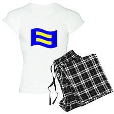 Waving Human Rights Equality Flag Pajamas