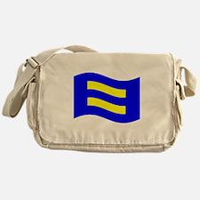 Waving Human Rights Equality Flag Messenger Bag