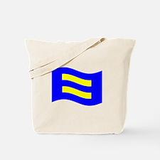 Waving Human Rights Equality Flag Tote Bag