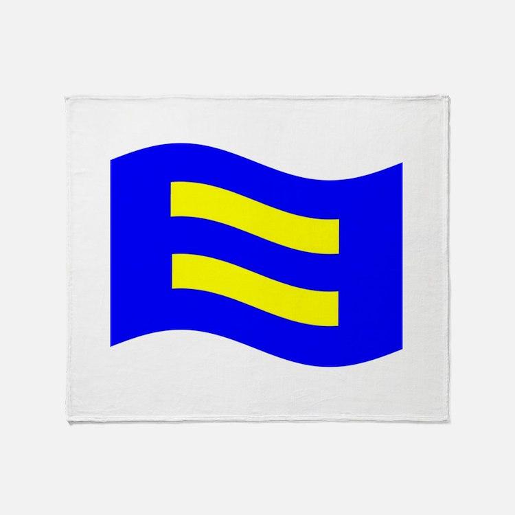 Waving Human Rights Equality Flag Throw Blanket