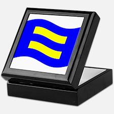 Waving Human Rights Equality Flag Keepsake Box
