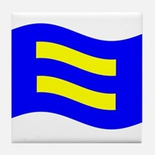 Waving Human Rights Equality Flag Tile Coaster