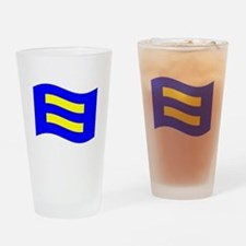 Waving Human Rights Equality Flag Drinking Glass