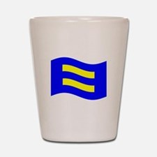 Waving Human Rights Equality Flag Shot Glass