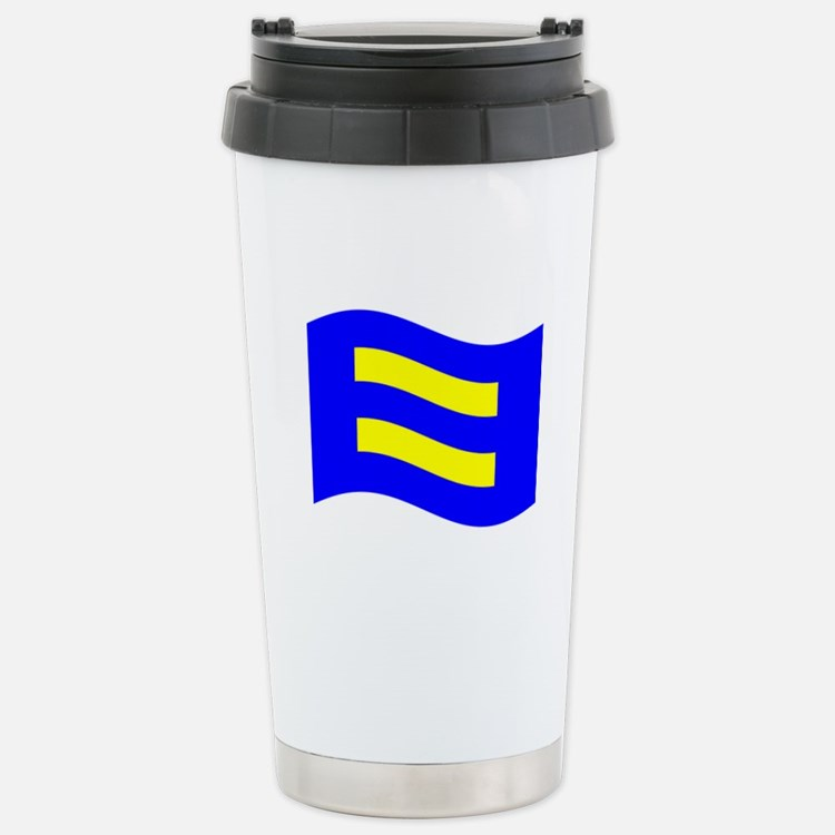 Waving Human Rights Equality Flag Travel Mug
