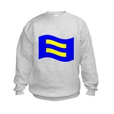 Waving Human Rights Equality Flag Sweatshirt