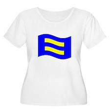 Waving Human Rights Equality Flag Plus Size T-Shir