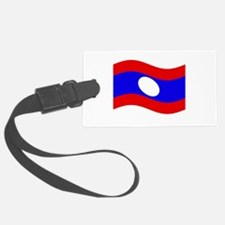 Waving Laos Flag Luggage Tag