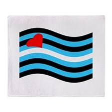 Waving Leather Flag Throw Blanket