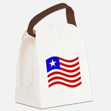 Waving Liberia Flag Canvas Lunch Bag