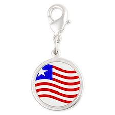 Waving Liberia Flag Charms