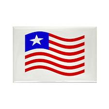 Waving Liberia Flag Magnets