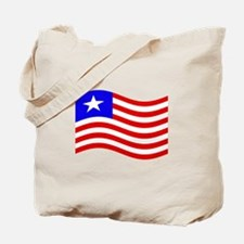 Waving Liberia Flag Tote Bag