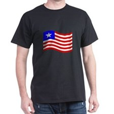 Waving Liberia Flag T-Shirt