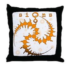 Spiral Crop Circle Starlight Orange Throw Pillow