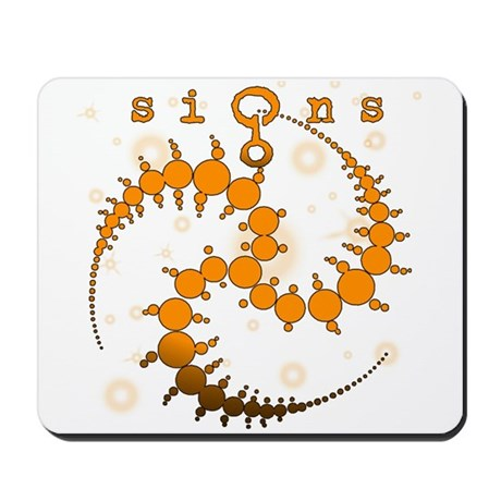 Spiral Crop Circle Starlight Orange Mousepad