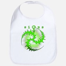 Spiral Crop Circle Sunburst Green Bib
