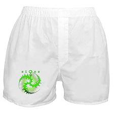 Spiral Crop Circle Sunburst Green Boxer Shorts