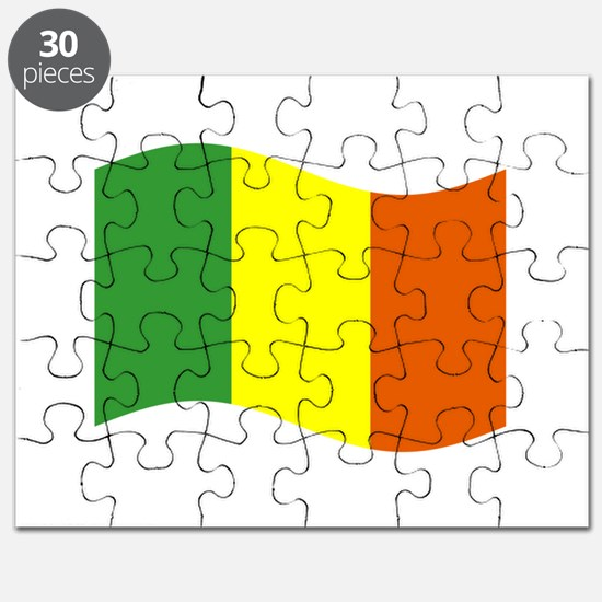 Waving Mali Flag Puzzle