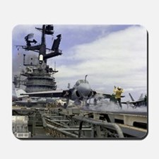 USS Coral Sea Cat Launch Mousepad