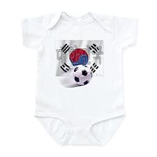 Soccer Flag Daehan Minguk Infant Bodysuit
