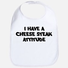 CHEESE STEAK attitude Bib