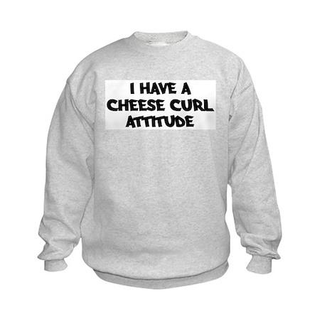 CHEESE CURL attitude Kids Sweatshirt