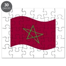 Waving Morocco Flag Puzzle