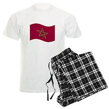 Waving Morocco Flag Pajamas