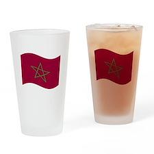 Waving Morocco Flag Drinking Glass