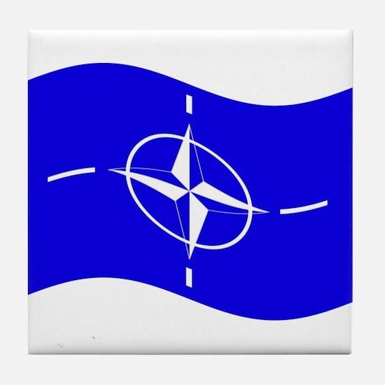 Waving Nato Flag Tile Coaster