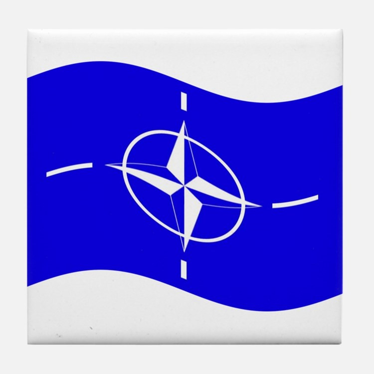 Waving Nato Flag Tile Coaster