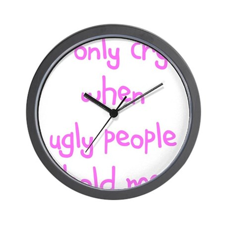 I ONLY CRY Wall Clock