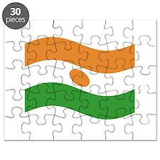Waving Niger Flag Puzzle