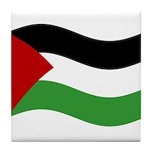 Waving Palestine Flag Tile Coaster