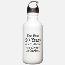 First 50 Years Childhood Water Bottle