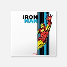 "Iron Man Vertical Square Sticker 3"" x 3"""