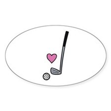 Heart Golf Ball Decal