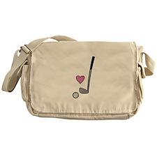 Heart Golf Ball Messenger Bag