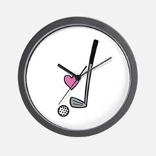 Heart Golf Ball Wall Clock