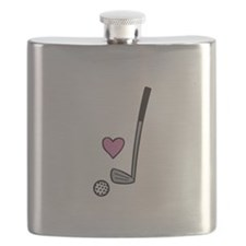 Heart Golf Ball Flask