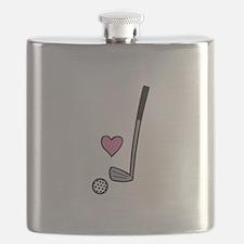 Heart Golf Ball Flask