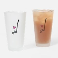 Heart Golf Ball Drinking Glass