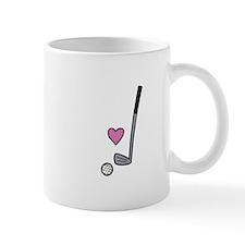 Heart Golf Ball Mugs
