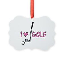 I Heart Golf Ornament