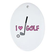 I Heart Golf Ornament (Oval)