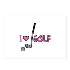 I Heart Golf Postcards (Package of 8)