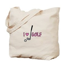 I Heart Golf Tote Bag