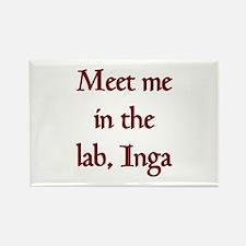 inga lab Rectangle Magnet