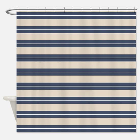 Blue And Tan Shower Curtains
